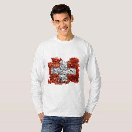 Switzerland Vintage Flag T-Shirt  $25.65  by Soulrider  - cyo customize personalize unique diy idea
