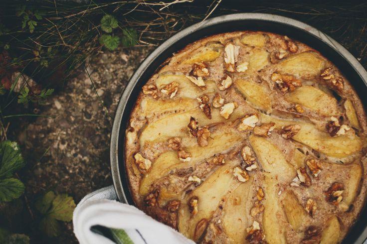 Gruszkowo-imbirowy naleśnik z piekarnika
