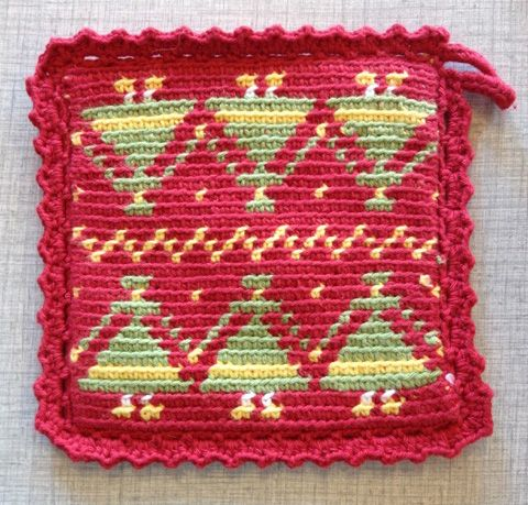 pot holder-tapestry crochet