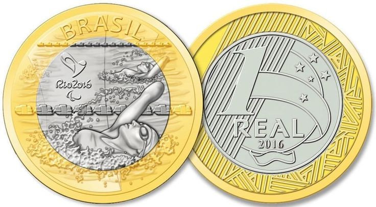 BRAZIL - 2016 RIO OLYMPIC GAMES - 1 REAL COIN - PARALYMPIC SWIMMING  | eBay