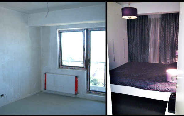 Before and After - Black & White Apartment by Square2Design , via Behance