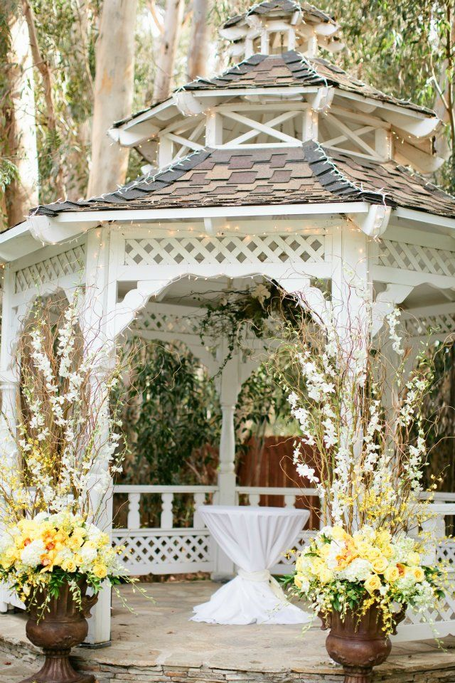 629 best kristen 39 s wedding stuff images on pinterest for Outdoor wedding gazebo decorating ideas