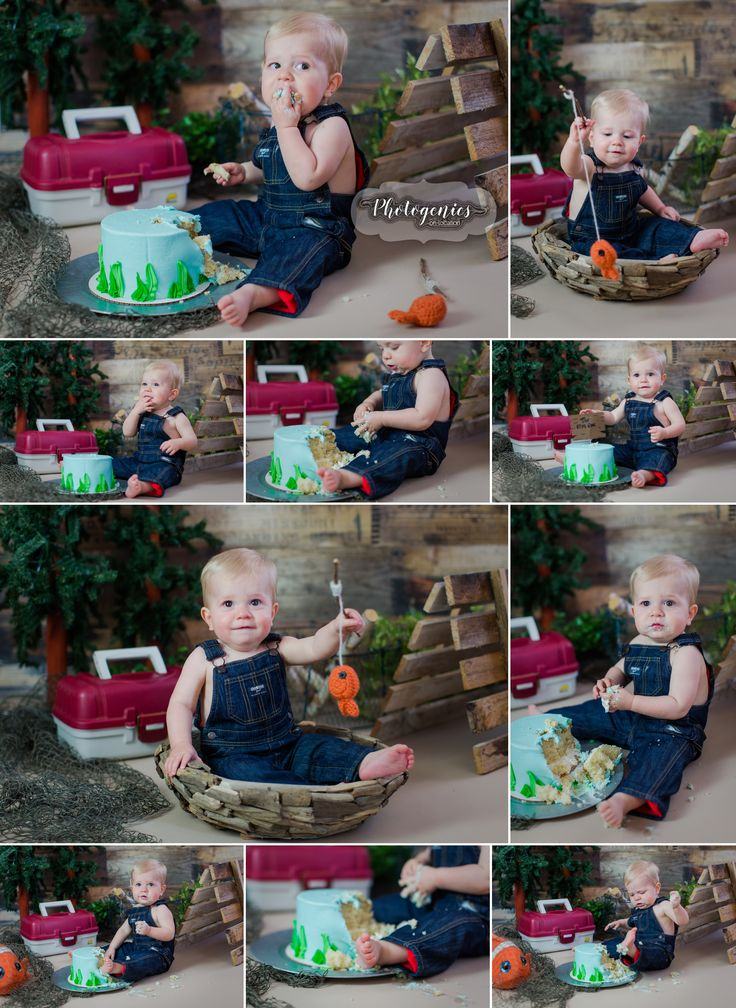 the_big_one_cake_smash_fishing_cakesmash_theme_first_birthday_theme_boy_12_months_photography