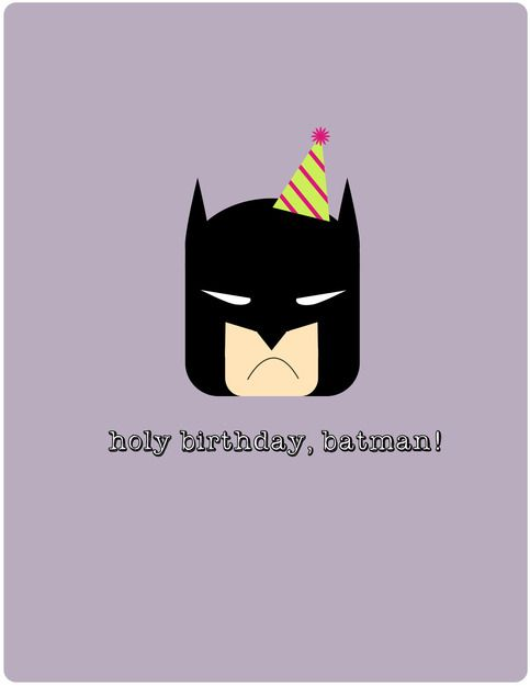 """wish your favorite super hero a very happy birthday with this batman card!  4.25"""" x 5.5"""" on cardstock envelope included!"""