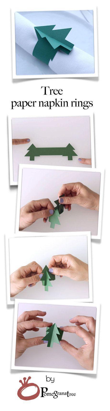 Enganche de papel en forma de arbolito