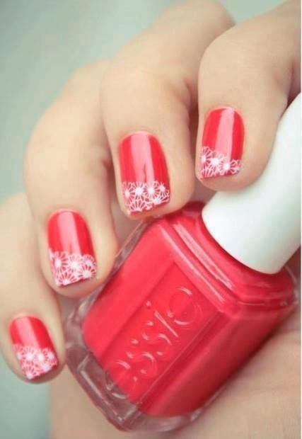Cute spring nails. Or bride maids nails...