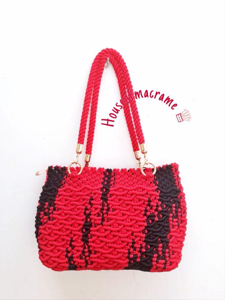 macrame bag by house of macrame                                                                                                                                                     More