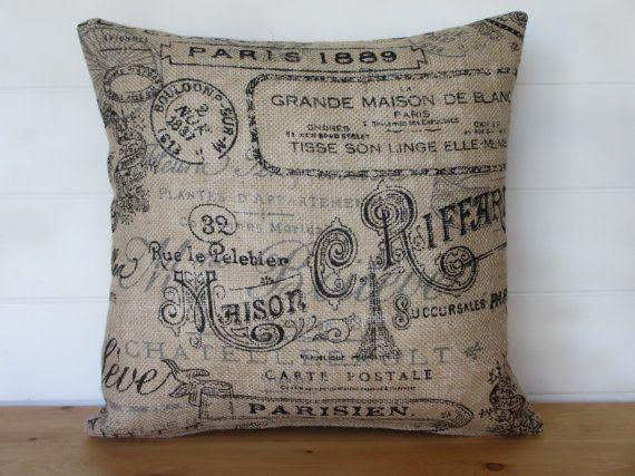 Best 25 burlap pillows ideas on pinterest stenciled for Decorative burlap fabric