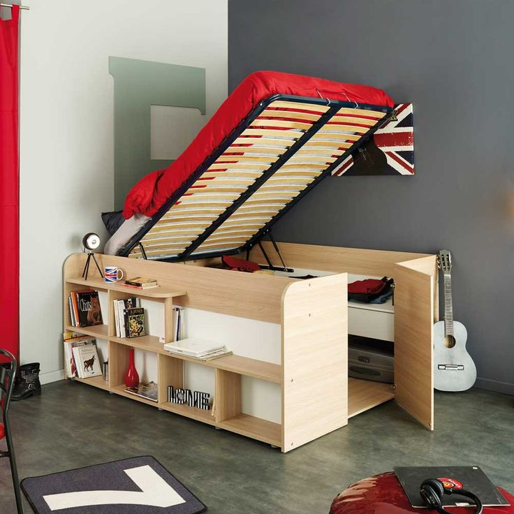 bett mit stauraum auf pinterest lagerbetten diy bett und bett. Black Bedroom Furniture Sets. Home Design Ideas