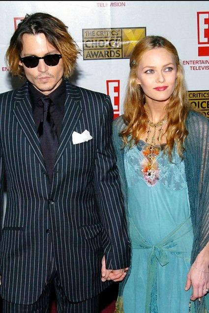Johnny Depp et Vanessa Paradis aux Critics Choice Awards en 2004