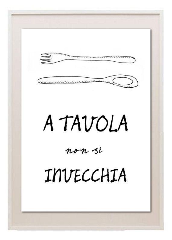 Siamo sempre un po' bambini quando ci sediamo a tavola e gustiamo un piatto che amiamo. #Food #Quote #Poster #Citazione #Cucina