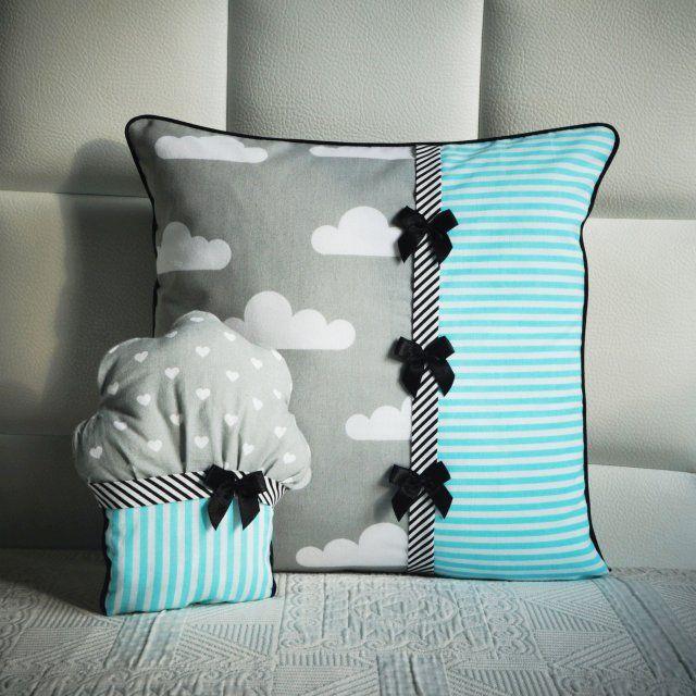 Poduszka i mufinka w chmurki