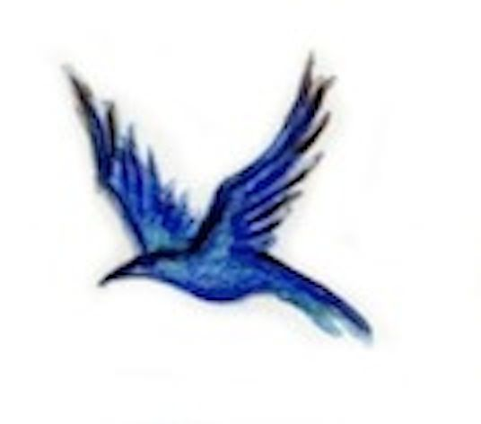 Bluebird image by Florence Boyd from the cover of The Four Seasons of Lucy McKenzie.