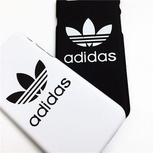 ブランド アディダス iphone se/5s/5 Iphone7 ケース 白黒 ペア Adidas アイフォン 6s/6 プラス 保護カバー ジャケット スポーツ風 おしゃれ