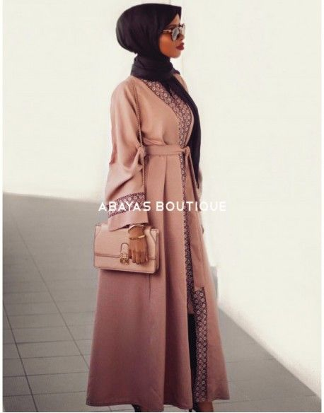 Dusky Mauve Open Abaya
