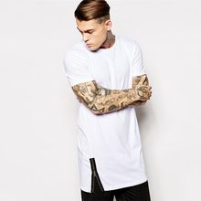 2015 Mens plain white tall tee shirt with zip detail    best buy follow this link http://shopingayo.space