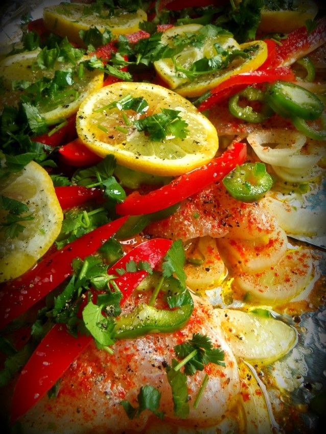 Baked fish with fresh chiles and lemon baked fish for Baked swai fish recipe