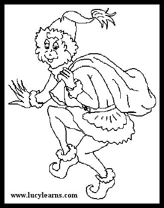 Full Size Grinch Pages Coloring Pages
