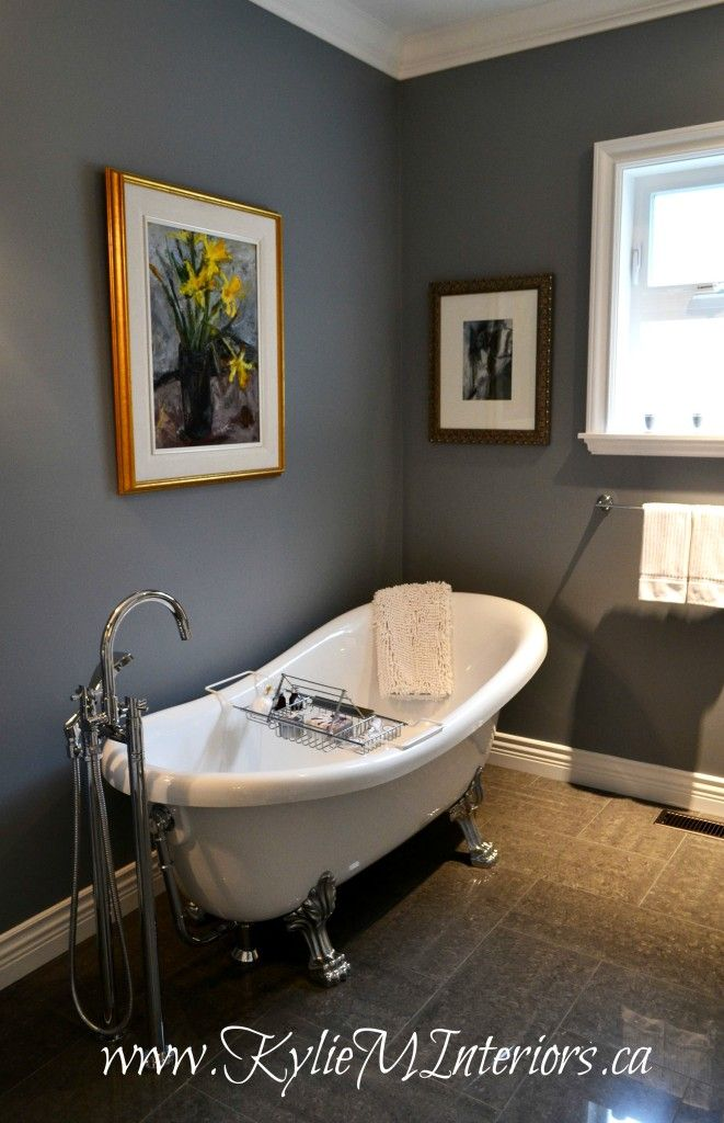 Charcoal floors- benjamin moore dior gray dark gray charcoal with purple  undertone in bathroom with