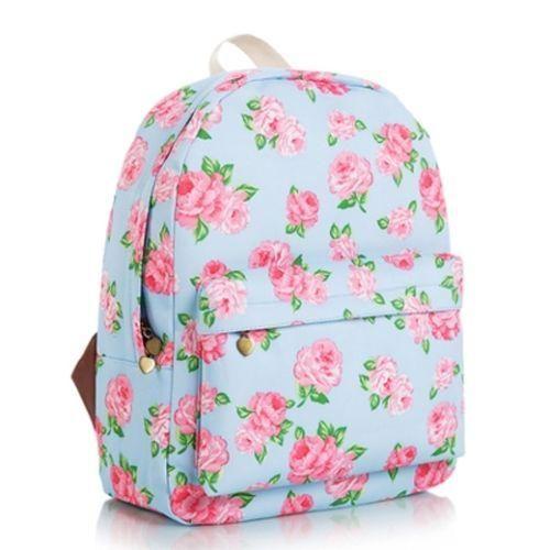 Nuevas llegadas Hot estampado floral, Mochila De Lona College Moda Casual Mochila Escolar