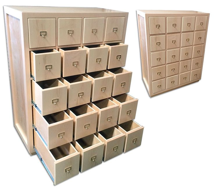 Amazing 20 Drawer 45 Record Storage Cabinet - Ultra High-Capacity LP Record Storage