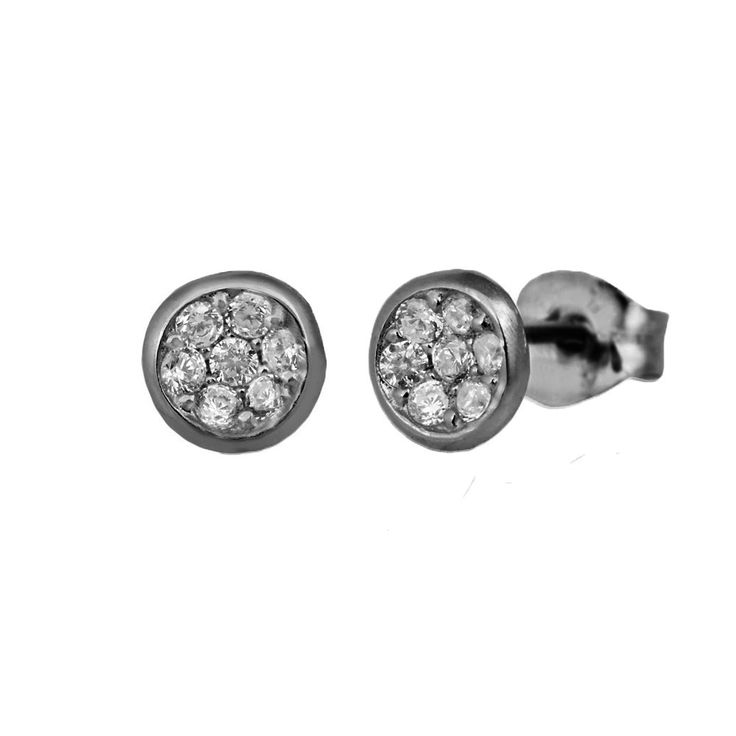 Small, round sterling silver ear studs from Svane & Lührs.   // Worldwide shipping EUR 5 //