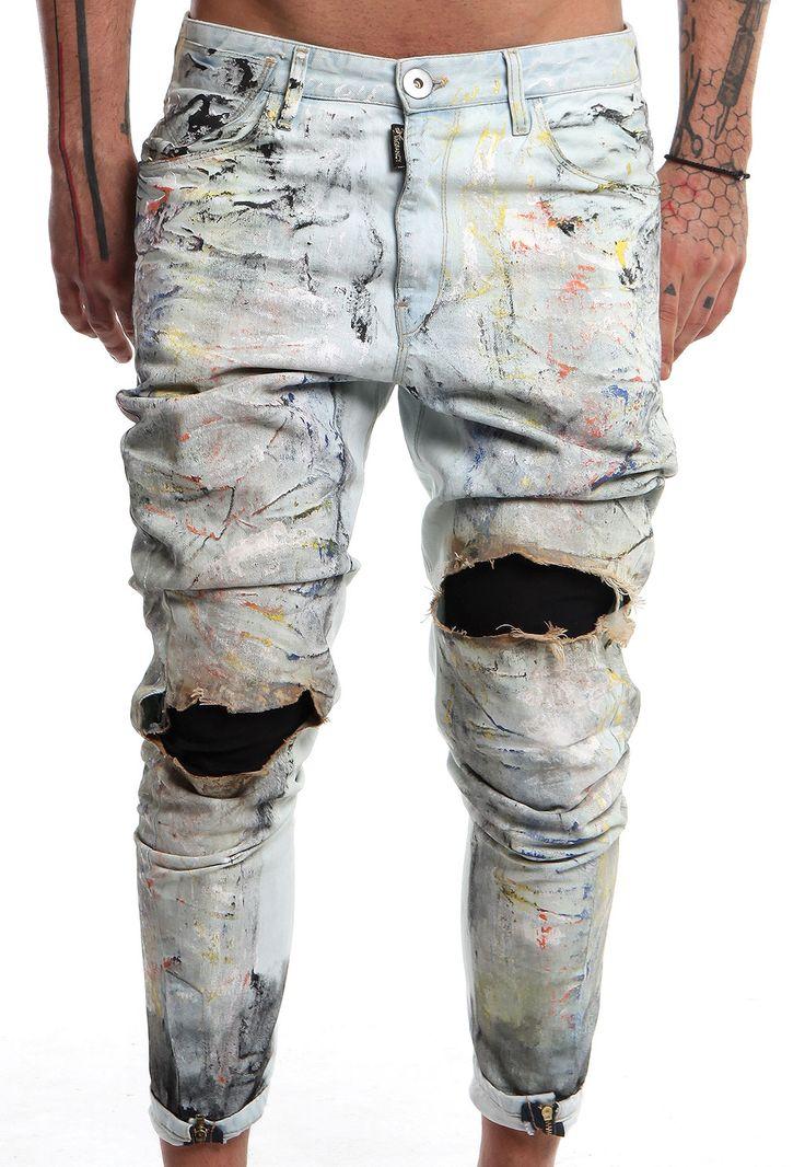 burned coloured jeans