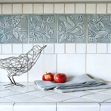 pretty ceramic tiles -- [REPINNED by All Creatures Gift Shop] Simple to install and surely dresses up your kitchen or bath!