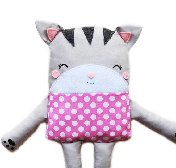 Cat Sewing Pattern Cat Softie Toy Pattern PDF by GandGPatterns
