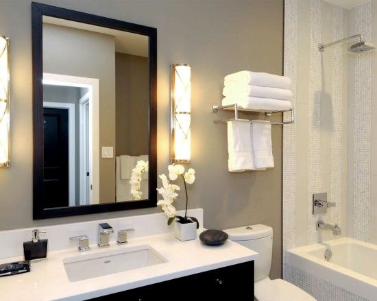 Small Bathroom Remodels...this would look great in my upstairs bathroom only with a slightly smaller counter. Would love this