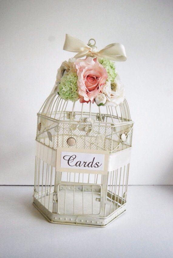 Custom Large Shabby Chic Wedding Birdcage by MackensleyDesigns, $65.00