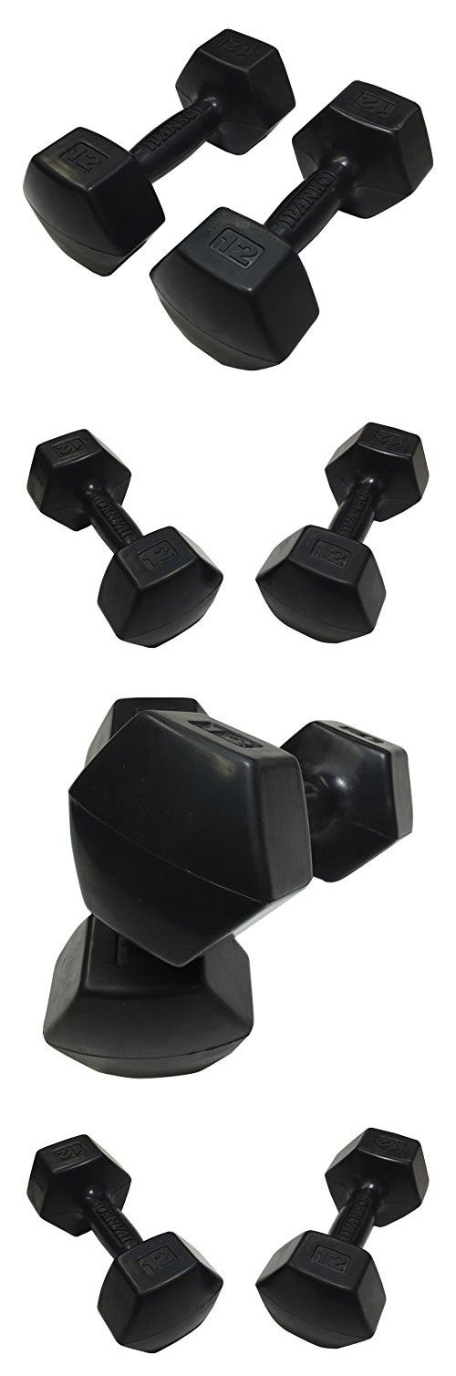 Ivanko Rubber Dumbbells, 12 lbs (PAIR)
