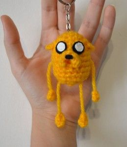 Jake the dog amigurumi keychain by Miahandcrafter