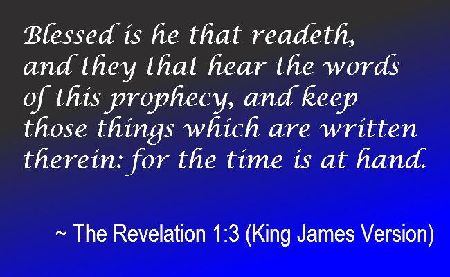 The Revelation 1:3 (King James Version)…
