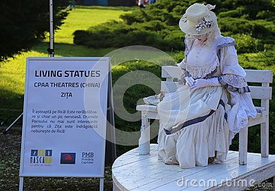 CPAA theatres, China - living statues at international festival of living statues in Bucharest, Romania.