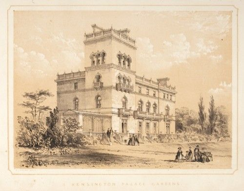 KENDALL, Henry Edward.. Modern Architecture Mansions, Villas &c. 1st. Series.  London, Williams & Co., c.[1856]. #lithography