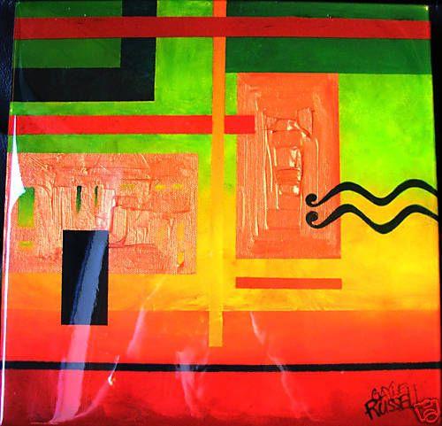 Well Regarded Australian Artist Gayle Russell liquid glass abstract  Modern I