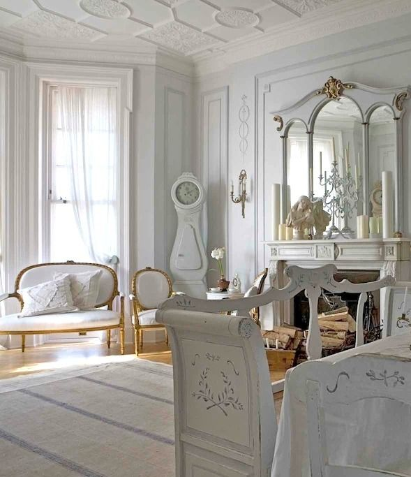 Gustavian Style The Little Book Of Secrets White Painted Furniture Living Room White French Country Living Room #painted #furniture #in #living #room