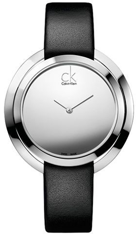 Buy Calvin Klein Aggregate Women's Silver Dial Leather Band Watch - K3U231C8 - Watches | UAE | Souq