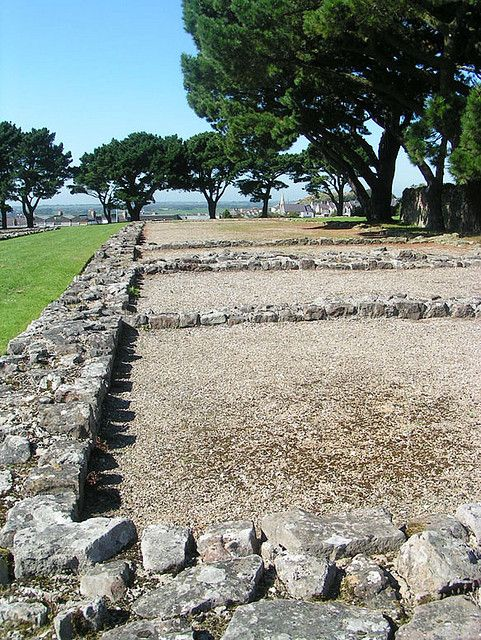 Segontium Roman Fort (NT) Caernarfon, North Wales