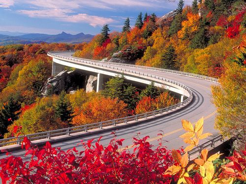 Autumn, Blue Ridge Parkway, Asheville, North Carolina photo via besttravelphotos roadtrip