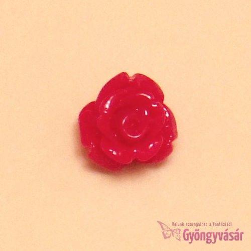 Piros, 8 mm-es fűzhető rózsa - műgyanta gyöngy • Gyöngyvásár.hu