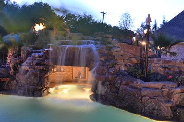 Colleyville Residential Lazy River - tropical - Pool - Dallas - Mike Farley Pool Designer