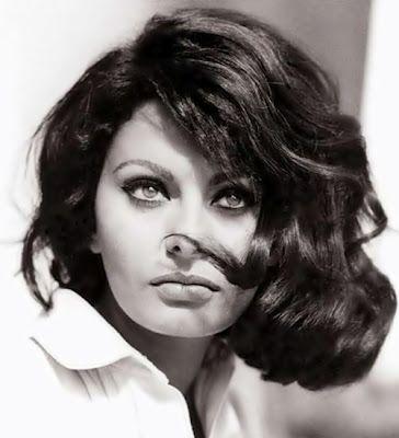 Sofia Loren beautiful long bob