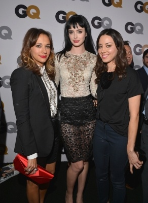 Rashida Jones, Krysten Ritter and Aubrey Plaza arrive at the GQ Men of the Year Party at the Chateau Marmont