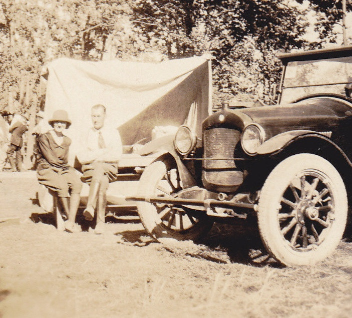 Camping in the Pike- 1920s Vintage Photograph. $3.00, via Etsy.
