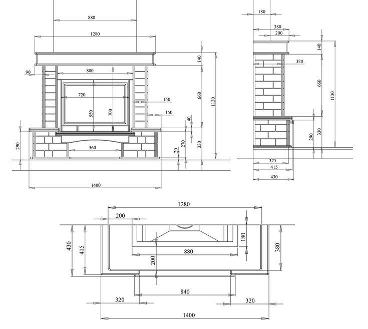Каменная облицовка с мраморной надтопочной балкой - каталог дизайн проекты каминов в 3d