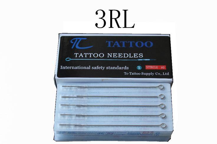 ТК Татуировки 3RL татуировки иглы 50 шт./лот бесплатная доставка stianless стали иглы медицинские татуировки иглы