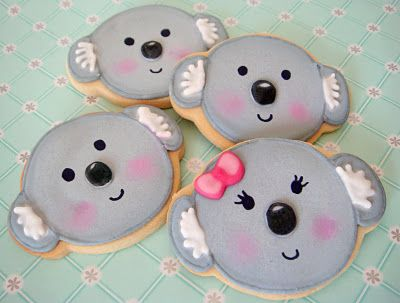 Koala cookies! How adorable are these? Very!!