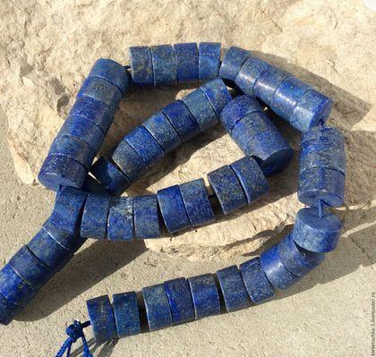 Для украшений ручной работы. Ярмарка Мастеров - ручная работа. Купить Лазурит 13 мм - 10 шт рондель бусины камни для украшений. Handmade.